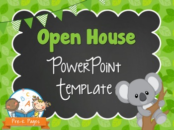 Koala Theme Open House ~ Back-to-School ~ PowerPoint Templ