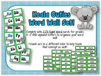 Koala Word Wall