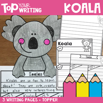 Koala Writing Pages with Topper