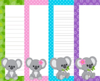 Koala Writing Paper - 3 Styles
