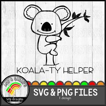 Koala-ty Helper SVG Design