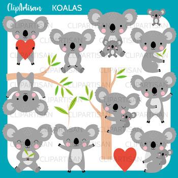 Koalas Clip Art, Koala Bear, Australia Printable