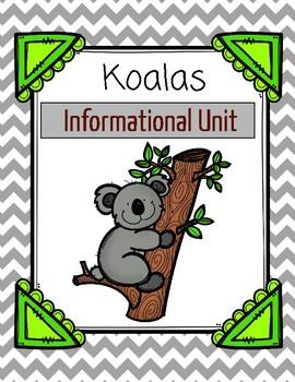 Koalas Informational Mini-Unit: nonfiction passages, resea