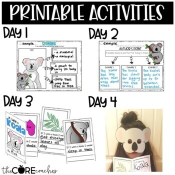 Koalas: Informational Read-Aloud Lesson Plans and Activities