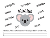 Koalas Vocabulary