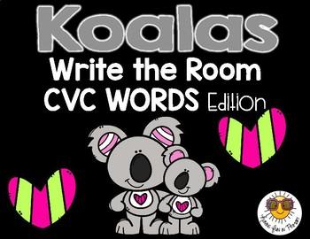 Koalas Write the Room - CVC Words Edition