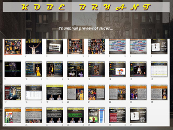 Kobe Bryant: Basketball Legend - Fun PPT and handout (High DOK Engagement)