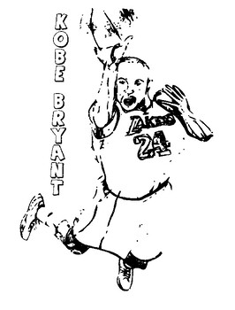 Kobe Bryant Coloring Pages for an Essay by Brilliant ...