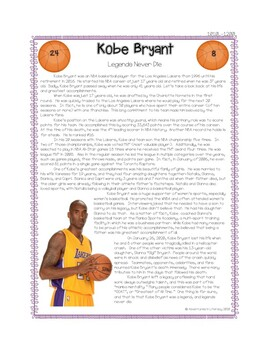 Kobe Bryant Reading Passage