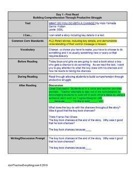 What Do You Do With an Idea/Problem/Chance? Lesson Plan & Activities Bundle