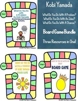 Kobi Yamada What Do You Do With Problem Idea Chance Board Game Bundle