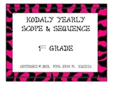 Kodaly 1st Gr. Scope and Sequence: A Yearly Guide -