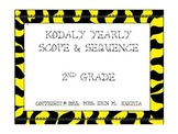 Kodaly 2nd Gr. Scope and Sequence: A Yearly Guide-