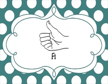 Kodaly Chromatic Solfege Hand Sign Posters (In 3 Colors)- Polka Dots