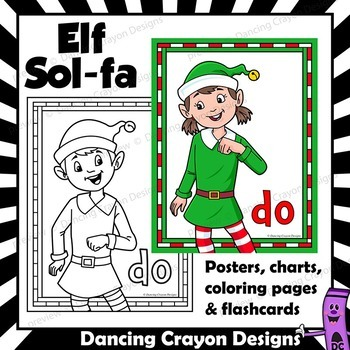 Curwen | Kodaly Hand Sign Posters, Coloring Pages, and Flashcards for Christmas