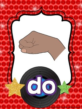 Kodaly Curwen Hand Sign Posters - Rock Star Theme