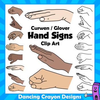 Kodaly / Curwen Hand Signs Clipart   Solfa   Solfeggio