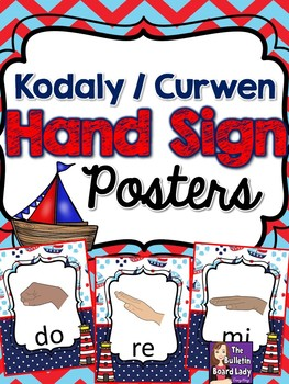 Kodaly Curwen Hand Signs – Nautical Theme