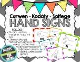 Kodaly / Curwen / Solfege Hand Sign Posters (Chevrons Big, Boomwhacker Colors)