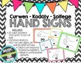 Kodaly / Curwen / Solfege Hand Sign Posters (Chevrons Small, Boomwhacker Colors)