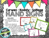 Kodaly / Curwen / Solfege Hand Sign Posters (Glitter, Boomwhacker Colors)