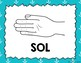 Kodaly / Curwen / Solfege Hand Sign Posters (Nautical, Boomwhacker Colors)