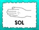 Kodaly / Curwen / SolfegeHand Sign Posters (Ombre, Boomwhacker Colors)