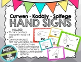 Kodaly / Curwen / Solfege Hand Sign Posters (Ombre, Boomwhacker Colors)