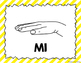 Kodaly / Curwen / Solfege Hand Sign Posters (Stripes, Boomwhacker Colors)