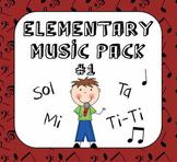 Kodaly Elementary Music Pack #1 - Sol & Mi, Ta & Ti-Ti