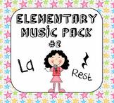 Kodaly Elementary Music Pack #2 - La & Rest