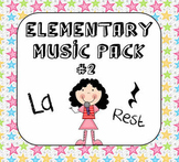 Kodaly Elementary Music Pack #2 - La & Rest