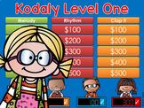 Kodaly Level 1 Jeopardy Style Game Show ta, ti-ti, sol, mi, la