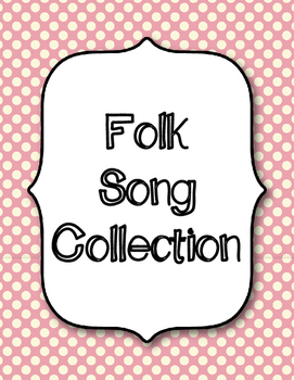 Kodaly Folk Song Collection Binder Covers/Dividers