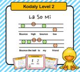 Kodaly For Beginners Set Level 2: La So Mi (Slides)
