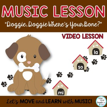 """Music Lessons: """"I Had a Dog"""" and """"Doggie, Doggie"""" Game Songs with Kodaly & Orff"""