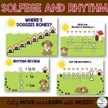 """Music Lessons: """"I Had a Dog"""" and """"Doggie, Doggie"""" Songs, Activities Kodaly, Orff"""