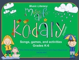 Kodaly Green Packet- Songs, games and activities K-6