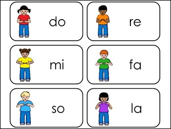 Kodaly Handsigns-Learn Singing Notes Picture Word Flash Cards.