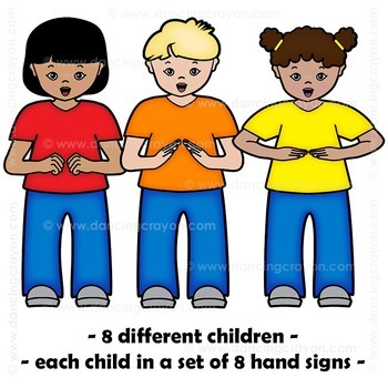 Kodaly Kids Hand Sign Clipart