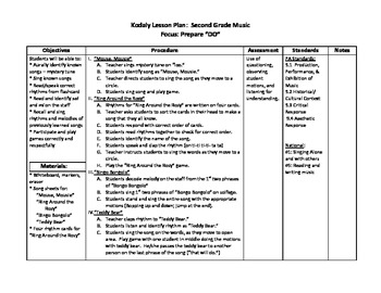 "Kodaly - Lesson Plan for Preparing & Practicing ""Do"""