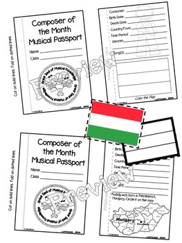 Kodaly Passport (Composer of the Month)