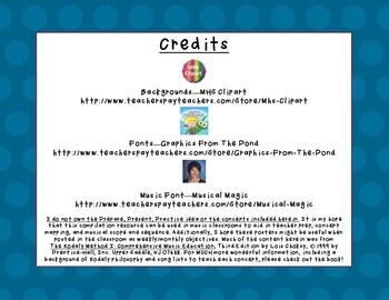 Kodaly Prepare, Present, Practice - First Grade SAMPLE