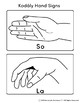 Kodaly Solfege Hand Sign Cards