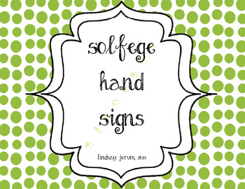 Kodaly Solfege Hand Sign Posters