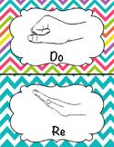 Kodaly Solfege Hand Sign Posters - Chevron Design