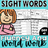 Sight Words Fluency and Word Work