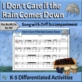 Music Reading Song with Orff Arrangement   I Don't Care if