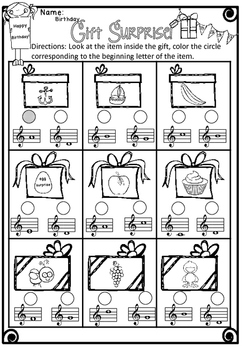 Kodaly's Birthday Music Worksheets