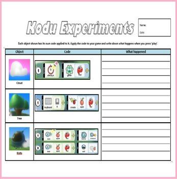 Kodu Programming Coding Experiments